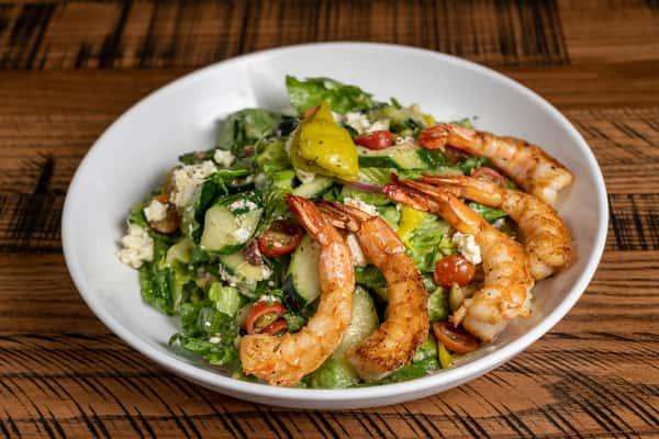 The Greek Salad w-Grilled Shrimp