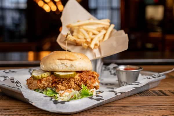 Nashville Hot Fried Chicken Sandwich