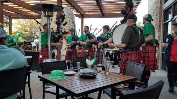 bagpipe musicians