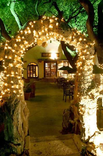 lighted archway