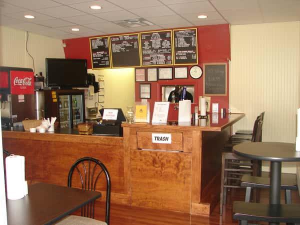 Restaurant front counter