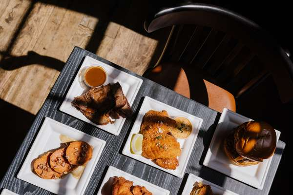 Louellas plates on table