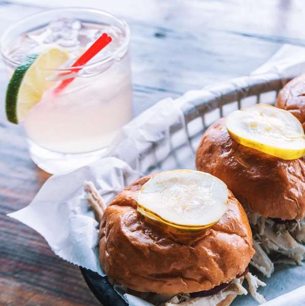 sliders and drink
