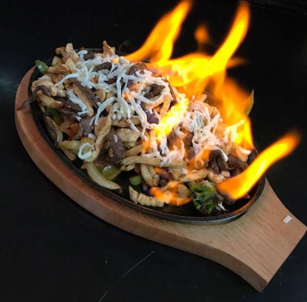 Flaming mexican food