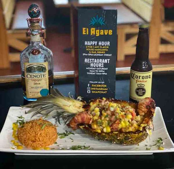 Mexican cuisine with alcoholic pairings