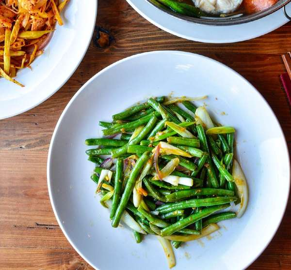 Green Beans with Garlic Sauce