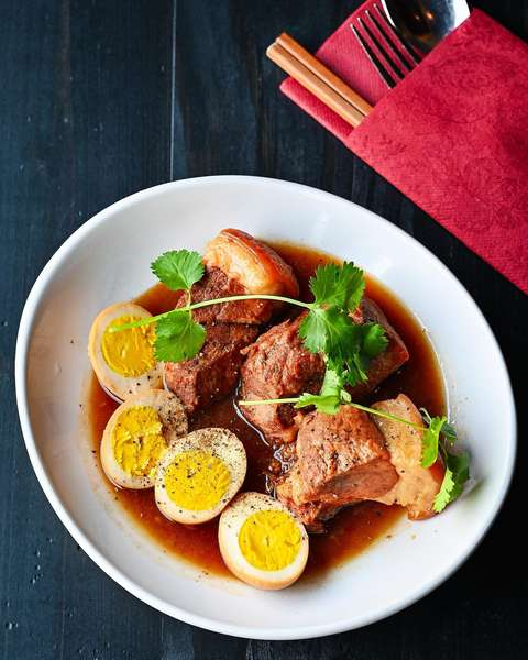 Braised Pork With Hard Boiled Eggs