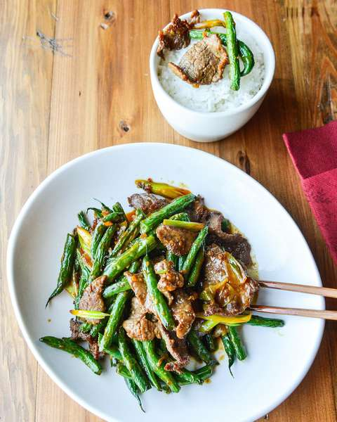 Beef & String Beans in XO Sauce