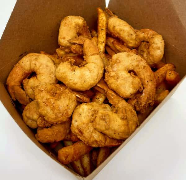 Fried Shrimp Basket (10)