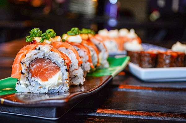 Variety of Sushi options