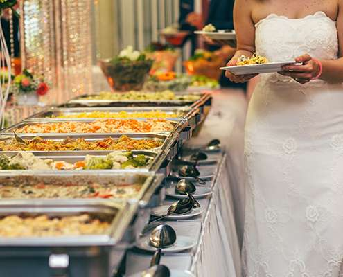 Catering Table Setup Image