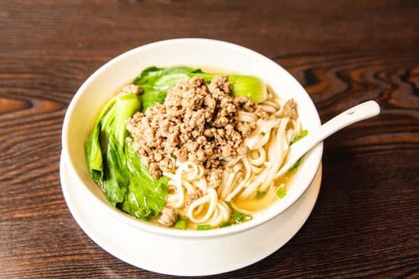 Soup Noodles with Minced Pork 清汤炸酱面