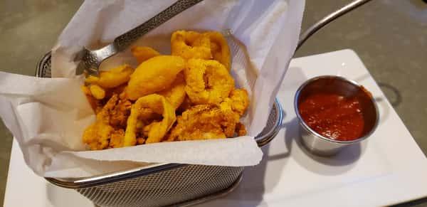 Crispy Polenta and Parmesan Calamari