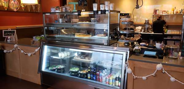 Pizza by the Slice, burgers, Salads, cookies, bars, cheesecakes, cupcakes, Sweets, Quiche, Amrita Coffee