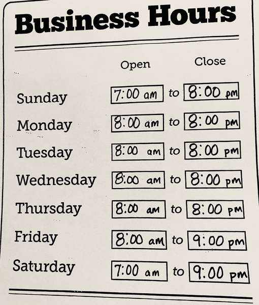 Updated Hours of Operation