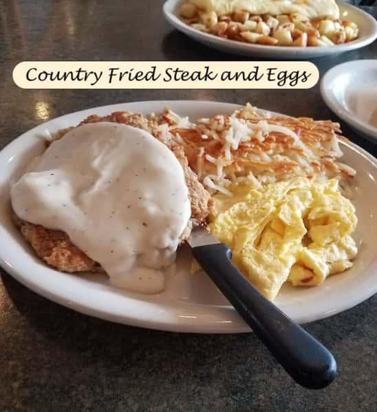 Breakfast Country Fried Steak & 2 Eggs