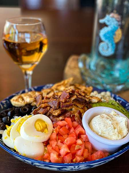 Cobb Salad with white wine