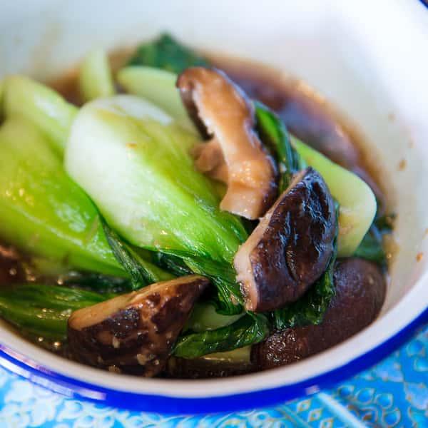 Baby Bok Choy and Shiitake Mushrooms