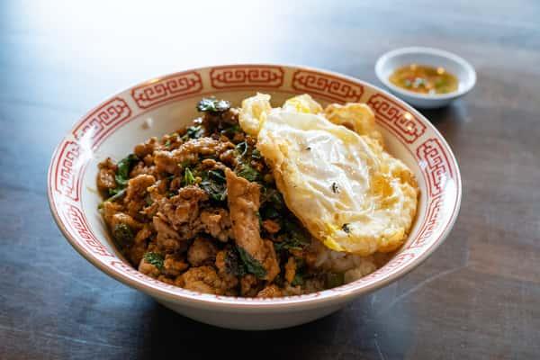 Chili Holy Basil over Rice