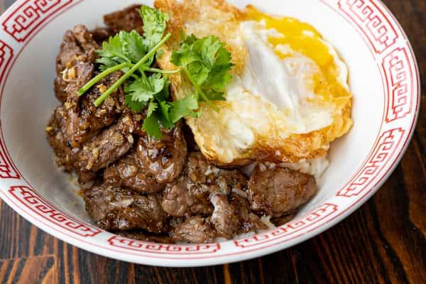 Garlic Black Pepper over Rice / Gratiem Lad Khao (LUNCH)