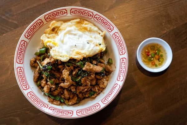 Holy Basil & Fried Egg on Rice / Khao Kapow Kai Dow (LUNCH)