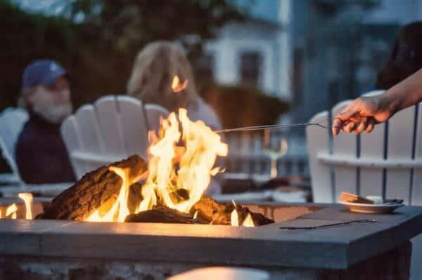 roasting at firepit