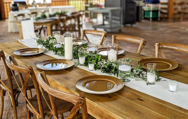 wedding table setup 2