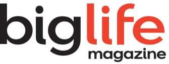 big life magazine logo black and red