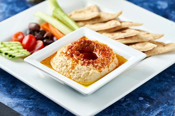 Hummus And Pita Plate