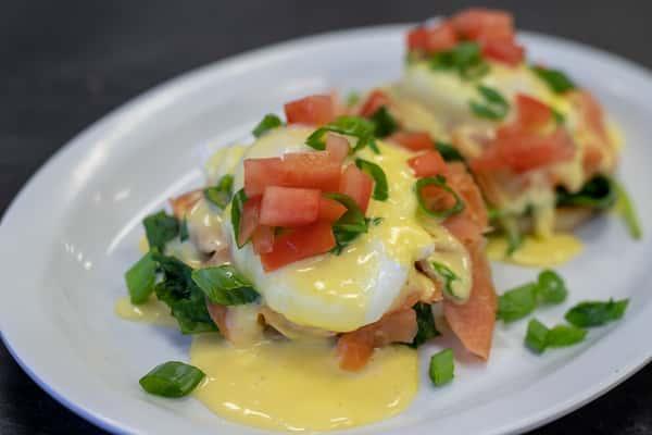 salmon and egg