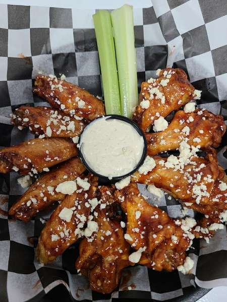 RED, WHITE & BLUE RASPBERRY CHIPOTLE WINGS