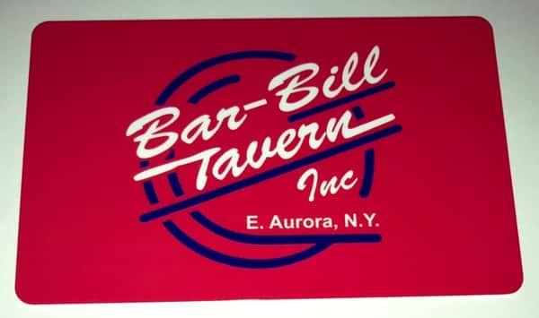 RED BAR-BILL GIFT CARD