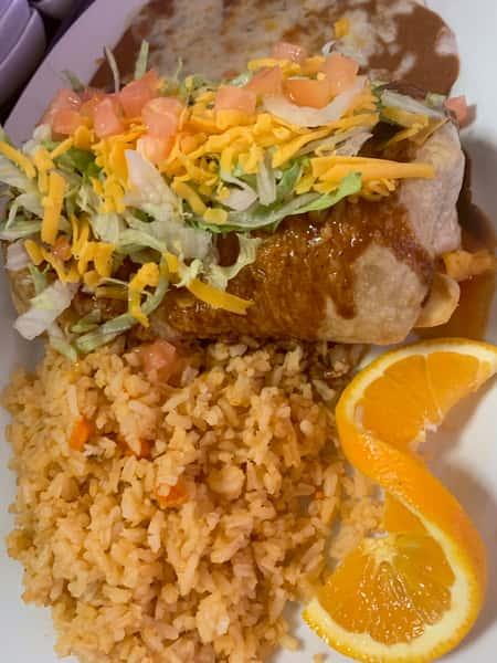 #12- Chimichanga Burrito Plate