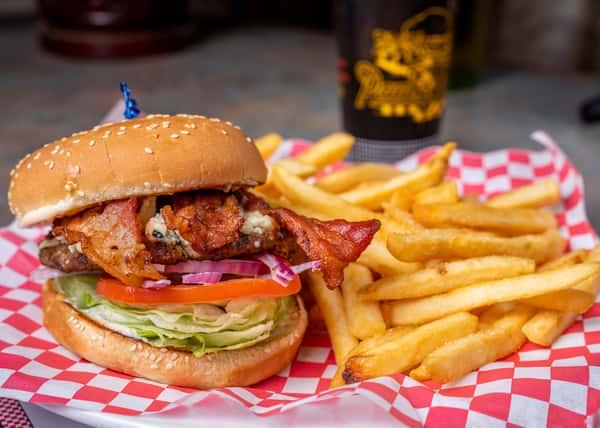 Blue Cheese Bacon Burger Combo