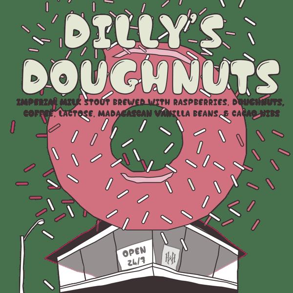 Dilly's Doughnuts Raspberry