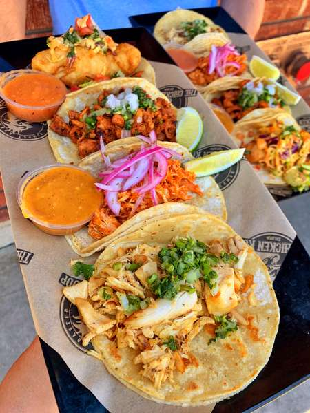 trays of tacos