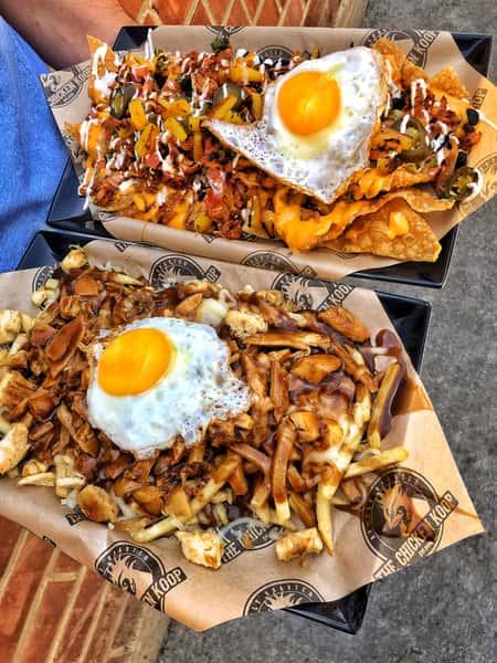 fries and nachos