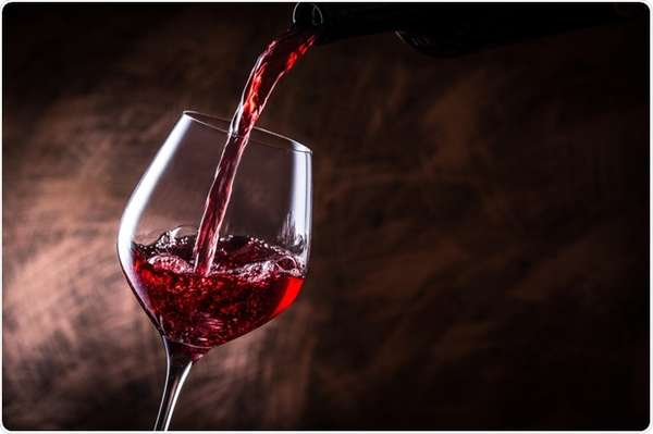 Glass of House Red wine
