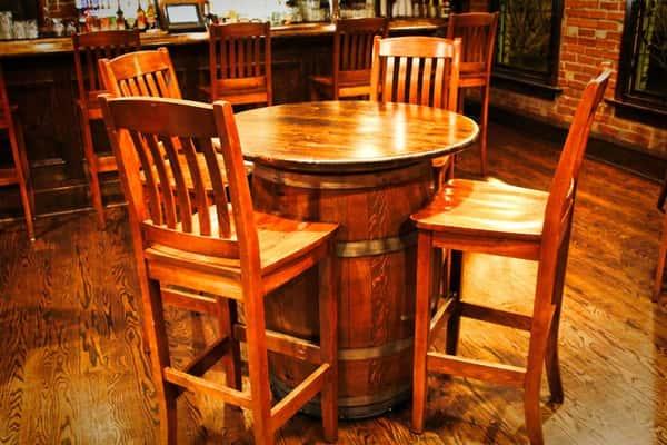 high top barrel table