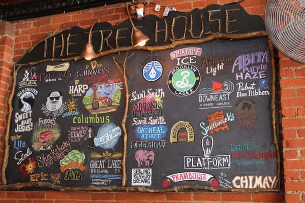 chalkboard of beer