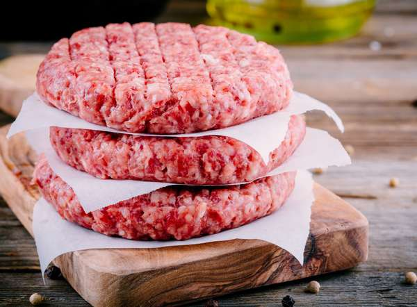 Fresh Frozen Ground Beef Patties 32/8 Ounce