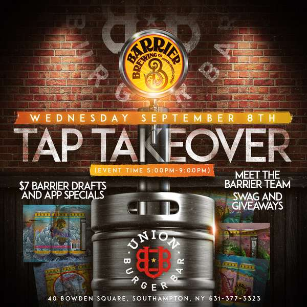 TAP TAKEOVER BY BARRIER BREWING CO