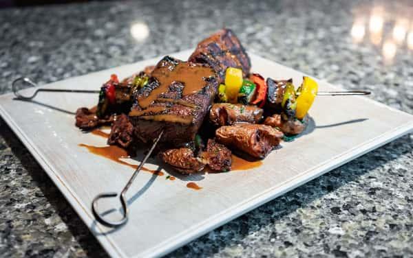 Grilled Sirloin Steak Skewer