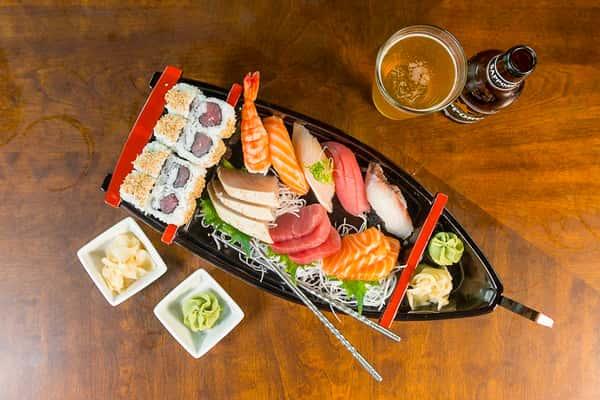 Boat for 1 (Sushi & Sashimi Combination)