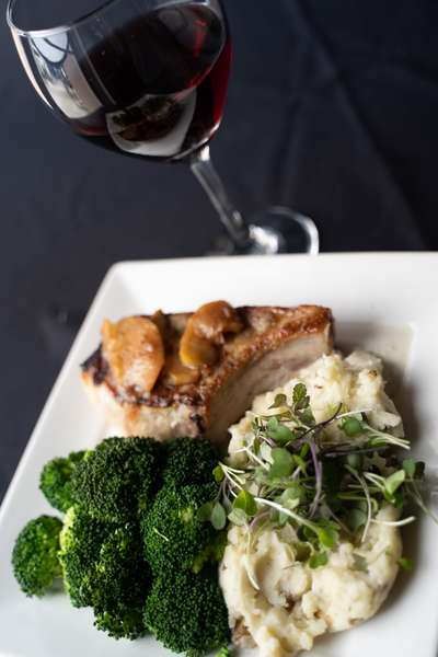Prime Pork Chop and Wine