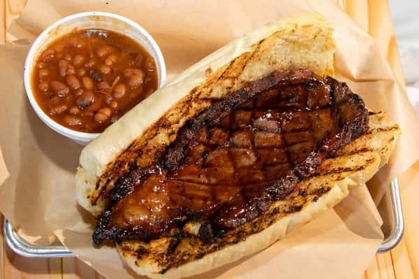 Prime Rib Steak Sandwich