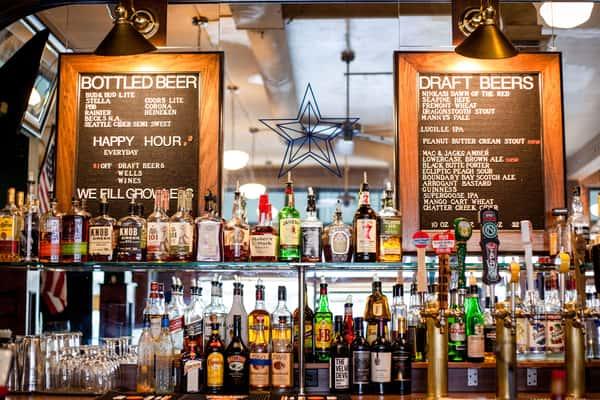 taps and bar menu