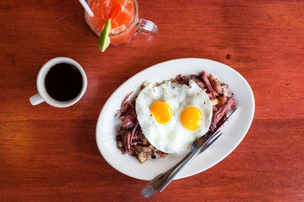 House Corned Beef Hash and Eggs