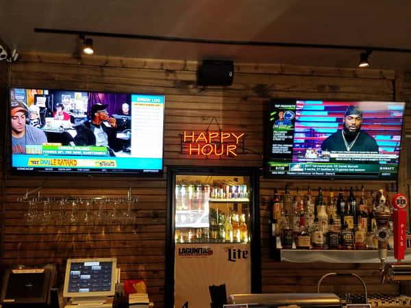 bar and tvs