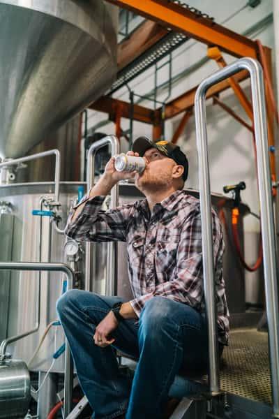 Jeff Huss drinking